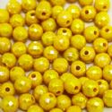Beads, Acrylic, Yellow, Spherical, Diameter 7mm, NA, 40 Beads, (SLZ0212)